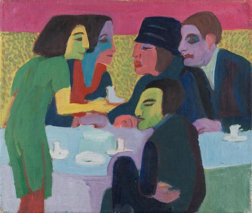 Ernst Ludwig Kirchner (1880–1938) Szene im Café, um 1926
